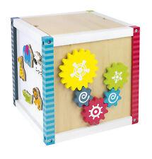 Interaktywna drewniana kostka edukacyjna, rozwój i zabawa