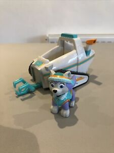 Paw Patrol Everest Snowmobile Vehicle and Figure 🐾 Rare
