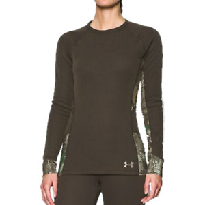 Under Armour Womens Extreme Season Top Base Size Large Brown NWT