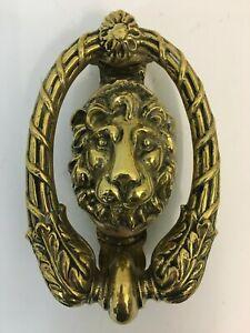"Reclaimed Antique Victorian Heavy Ornate 'Lion' Brass 6¾"" Door Knocker (SA093)"