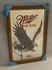 Miller High Life Beer Wisconsin Eagle Wildlife Series Mirror New Old Stock