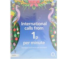 NEW o2 02 PAY AS U GO INTERNATIONAL sim (buy1 get 2 free)