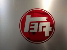 "2 pack Toyota TEQ Logo Vinyl Decal Sticker Red Chrome 3"" 1/2 x 3"" 1/2"