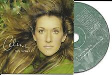 CD CARTONNE CARDSLEEVE 2T CELINE DION THAT'S THE WAY IT IS 1999