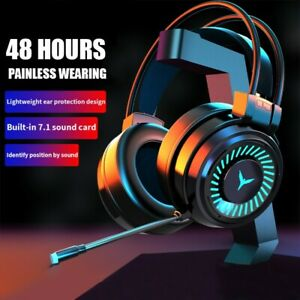 2021 Gaming Headset Mic LED Headphones Stereo Bass Surround For PC Xbox One PS4