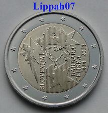 Slovenië speciale 2 euro 2014 Barbara Celjska UNC