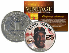 BARRY BONDS Colorized 1964 Silver Quarter U.S. Coin * Birth Year * Legal Tender