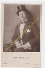 RPPC PHOTO STAR PAUL HEIDEMANN Foto BILDNIS VON A BINDER