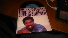 BILLY OCEAN LOVE IS FOREVER / DANCEFLOOR 45 RPM RECORD IN PICTURE SLEEVE