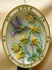 1997 Broad-biled Hummingbird by Kathy O'Malley Wall Hanging Resin Bradford Ex