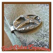 Horse Tie Pin Silver Pewter Flying DUCK Silver pre loved Tie Pin Show Tie Horse