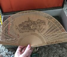 Chinese Wooden Fan Authentic Gorgeous!