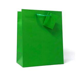"""Allgala 240 Case Lot  Premium Medium Solid Matte Finish Paper Gift Bags 9""""x7""""x4"""""""