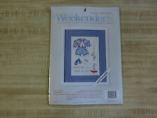 """Weekenders OUR LITTLE BOY Counted Cross Stitch SEALED Kit  w/Mat  #0275--5"""" x 7"""""""