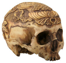 Human Head Skull Statue Sculpture Collectible Figurine -WE SHIP WORLDWIDE