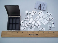 28 Piece Metal Double-6's Dominoes Set ~ Pocket ~ Mini ~ Travel w/Case~Complete
