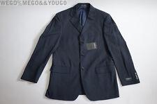 YSL Yves Saint Laurent Pour Homme Wool Three Button Blue Blazer EUR size 52
