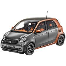 Original smart Modellauto 1:18 forfour passion lava orange grey NOREV B66960298