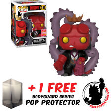 FUNKO POP HELLBOY IN SUIT SDCC 2018 EXCLUSIVE + FREE POP PROTECTOR