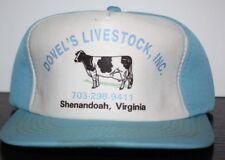 Vintage Dovels Livestock Cow Dairy Shenandoah Virginia Hat Polyester Baby Blue