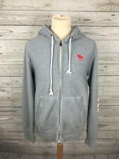 Men's Abercrombie & Fitch Full Zip Hoodie - Size Large - Grey - Great Condition