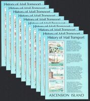 Ascension WHOLESALE Ships Airplane London 80 10 miniature sheets MNH SG#MS268
