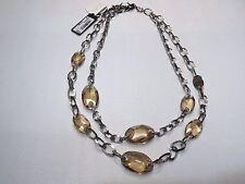 Collana Nomination in acciaio con elementi swarovski fumè
