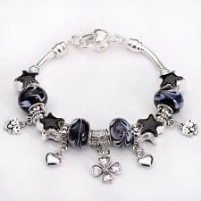 New Fashion European Murano Glass Bead&Silver Women Charm Bracelet TA56+Gift Box