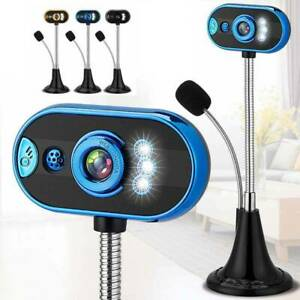 USB 2.0 Webcam HD Camera With Microphone Stand for Desktop Computer Laptop