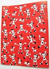 Vintage GIFT WRAP ~ TIMBERTOES Tommy Mabel Spot ~ Highlights for Children RARE