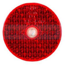 Rosso Posteriore vite sul Riflettore 60 mm Rotondo Motocicletta Moto Caravan Rimorchio