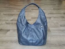 Blue Leather Hobo Bag w/ Pockets, Women Handbags, Alexis