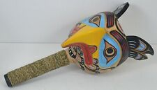 FIRST NATION STYLE CEREMONIAL BLUE EAGLE RATTLE ~ POSSIBLY HAIDA STYLE