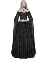 Punk Rave Gothic Wedding Dress Long Black Lace Witch Steampunk Victorian Prom