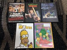 **Lot of 5 Comedy DVDs - Spaceballs + The Simpsons Movie + Team America