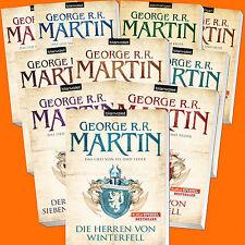 George R.R. Martin | DAS LIED VON EIS UND FEUER 1-10 Komplett | GAME OF THRONES