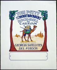 Tom Petty & Hbs Rock n' Roll Caravan '87 national tour admat silkscreen print