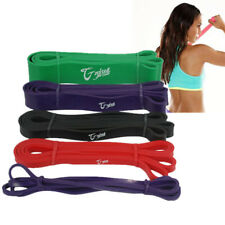 Set of 5 Heavy Duty Resistance Bands Fitness  Exercise