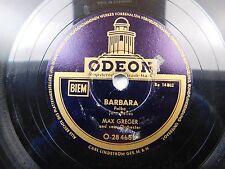 Max Greger und Sein Orchestra -German Odeon 78 RPM - Marianka Polka / Barbara