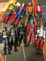 "Lot Of 11"" 2016 DC Comics/Hasbro Batman+other Action Figures. Bendable/movable"