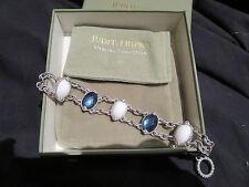 Judith Ripka Sterling Diamonique Multi-Gemstone Toggle Bracelet MSRP 449.00