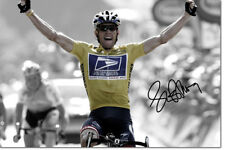 LANCE ARMSTRONG PHOTO PRINT POSTER PRE SIGNED - 12 X 8 INCH  A+ QUALITY