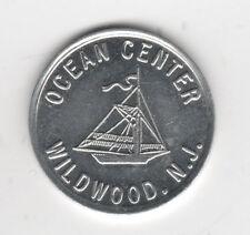 Vintage Ocean Center Wildwood N.J. OLYMPIC Enterprises Token Sailboat Torch