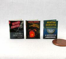 Agatha Christie Set of 3 Dollhouse Miniatures Books 1:12 Scale Readable Orient