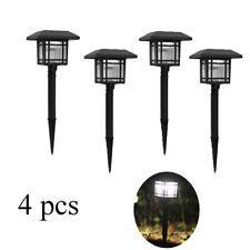 Set 4PZ Lámpara LED Con Panel Solar de Jardín Piquete Exterior TE-B0157