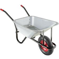 Brouette de Jardin 1 Grande Roue Pneumatique Chariot Transport 100 L max. 150 kg