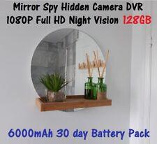 SPY HIDDEN CAMERA WALL MIRROR DVR FULL HD H264 1080P NIGHT VISION 128GB