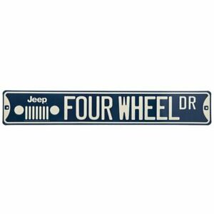 Jeep Four Wheel Drive Metal Sign Wall Art Home Decoration Garage Man Cave