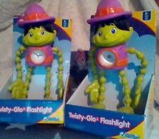 2 Little Tikes Flashlight Twisty-Glo MONKEY Green & Purple Strobe Figure Toy