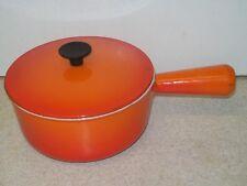 Lovely Vintage Orange Cousances Le Creuset 16 cm SAUCEPAN